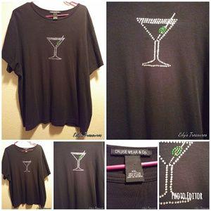 Tops - Cruise ware xx-large rhinestone martini top